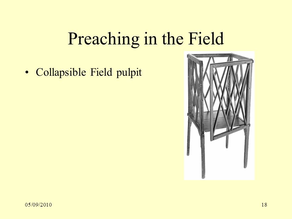 05/09/201018 Preaching in the Field Collapsible Field pulpit