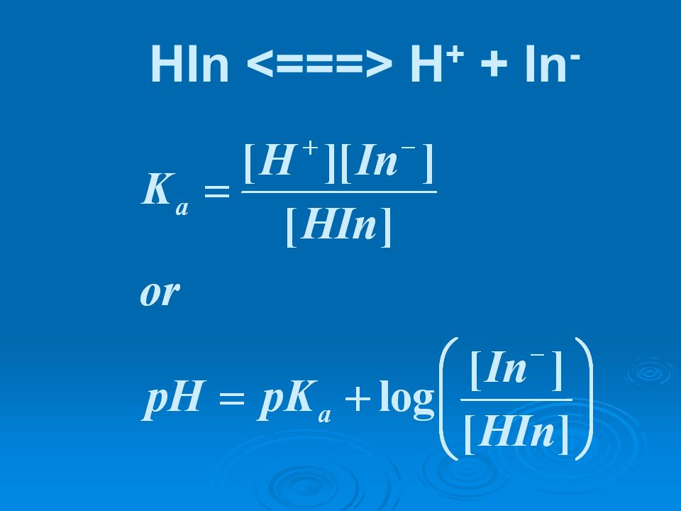 HIn H + + In -