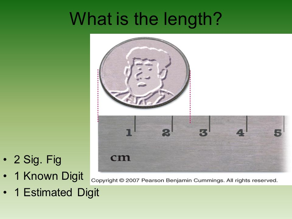 What is the length? 2 Sig. Fig 1 Known Digit 1 Estimated Digit