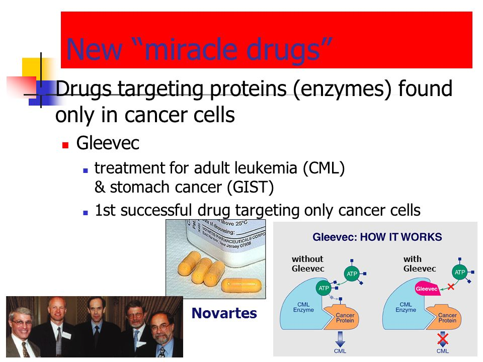 Traditional treatments for cancers Treatments target rapidly dividing cells high-energy radiation kills rapidly dividing cells chemotherapy stop DNA r
