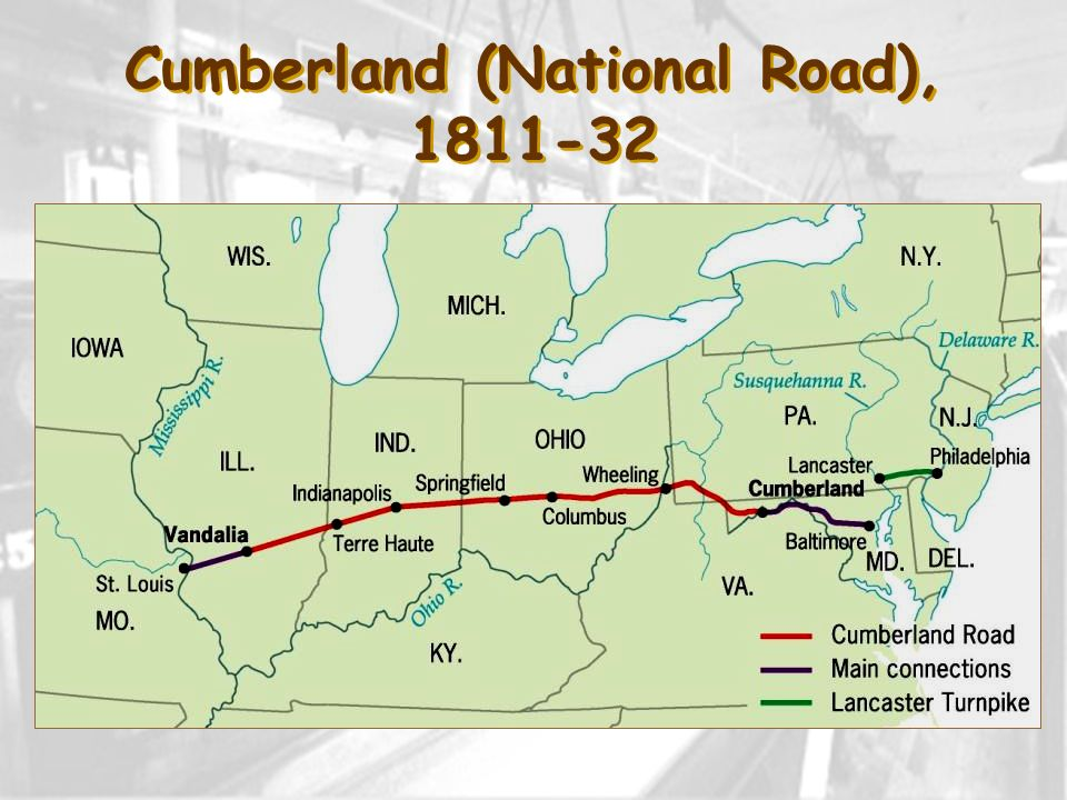 Cumberland (National Road), 1811-32