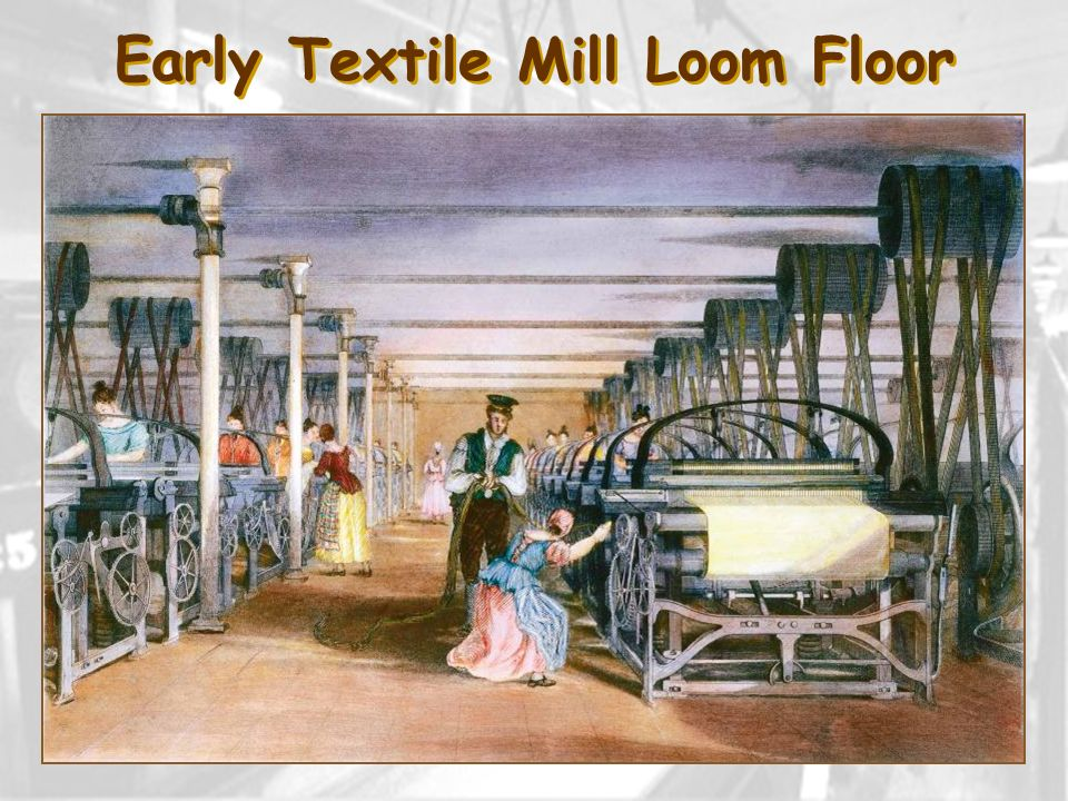 Early Textile Mill Loom Floor
