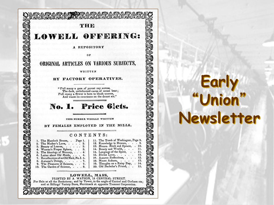 EarlyUnion Newsletter