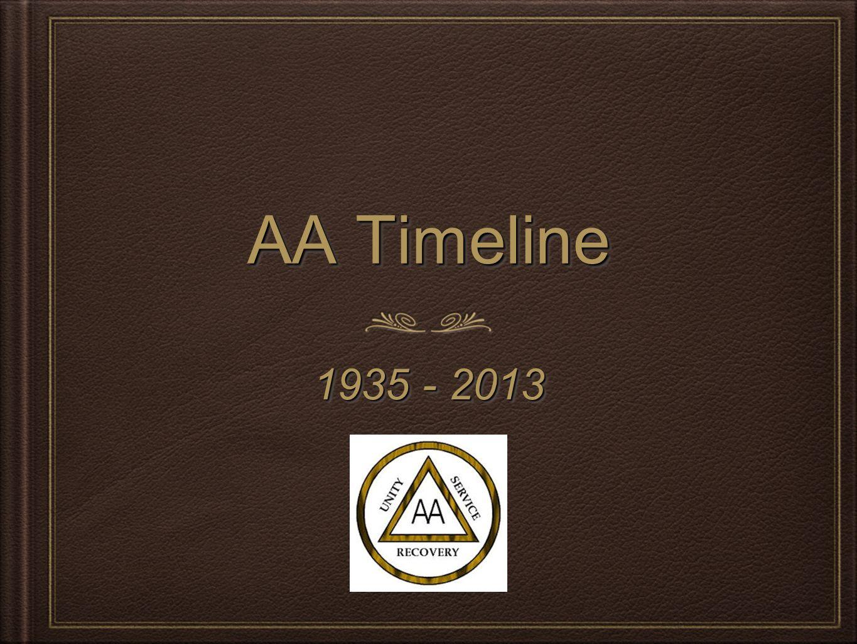 AA Timeline 1935 - 2013