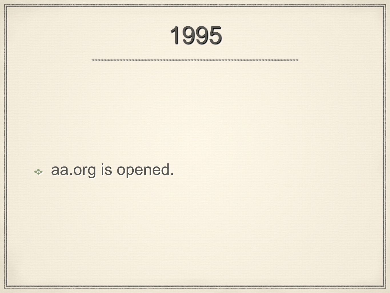 19951995 aa.org is opened.