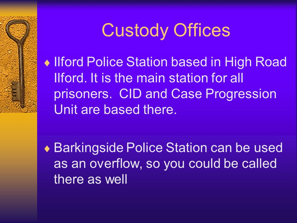 On arrival at Custody Suite