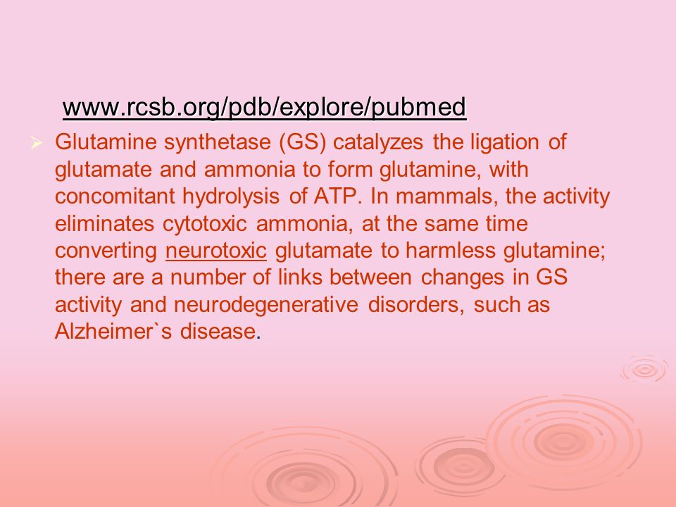 www.rcsb.org/pdb/explore/pubmed www.rcsb.org/pdb/explore/pubmed Glutamine synthetase (GS) catalyzes the ligation of glutamate and ammonia to form glut