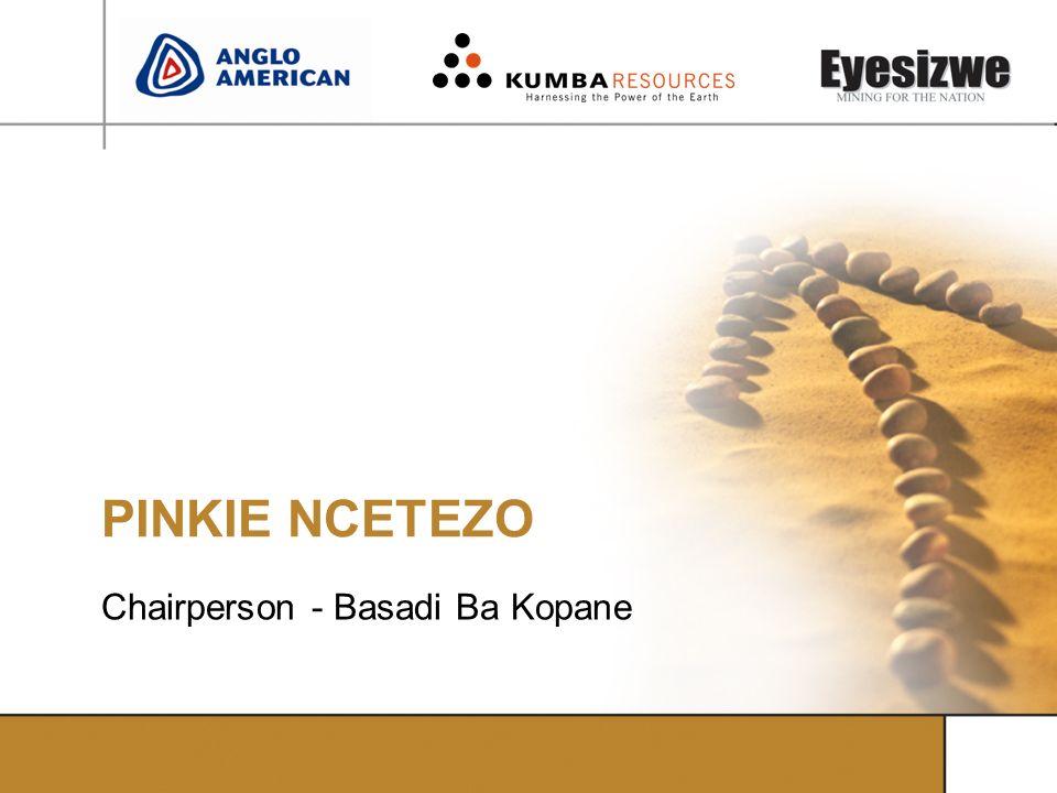 PINKIE NCETEZO Chairperson - Basadi Ba Kopane