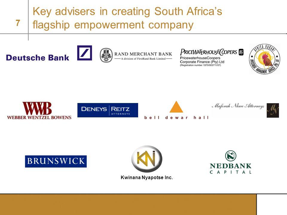 7 Key advisers in creating South Africas flagship empowerment company Kwinana Nyapotse Inc.