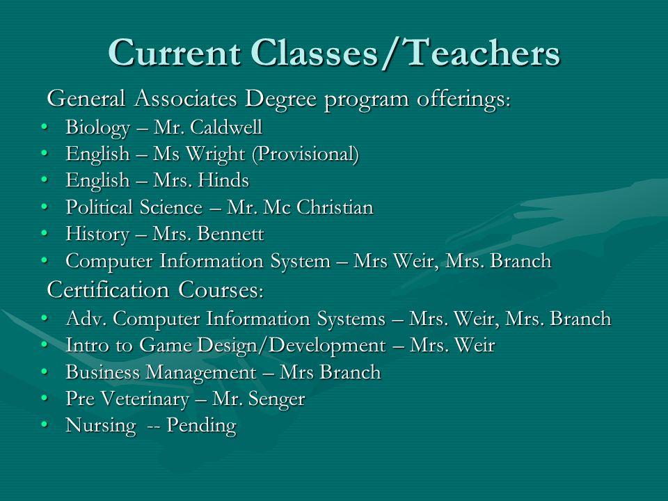 Current Classes/Teachers General Associates Degree program offerings : General Associates Degree program offerings : Biology – Mr. CaldwellBiology – M