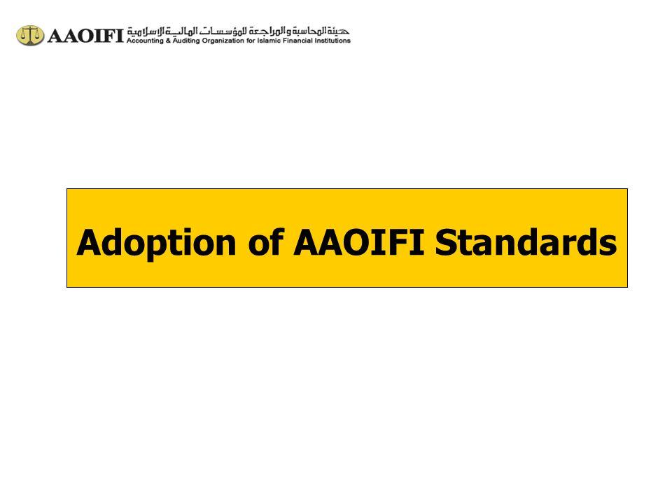 Adoption of AAOIFI Standards
