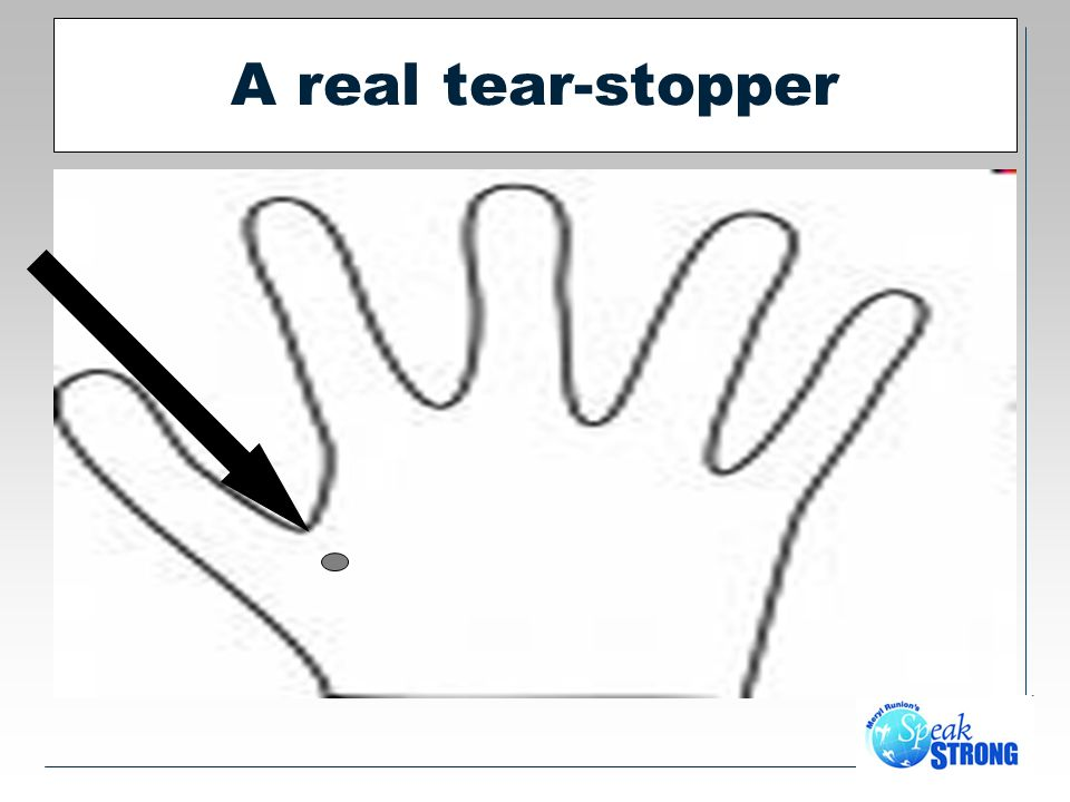 A real tear-stopper
