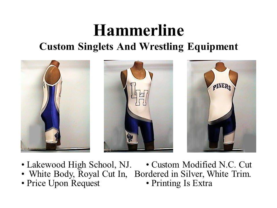 Hammerline Custom Singlets And Wrestling Equipment Lakewood High School, NJ.