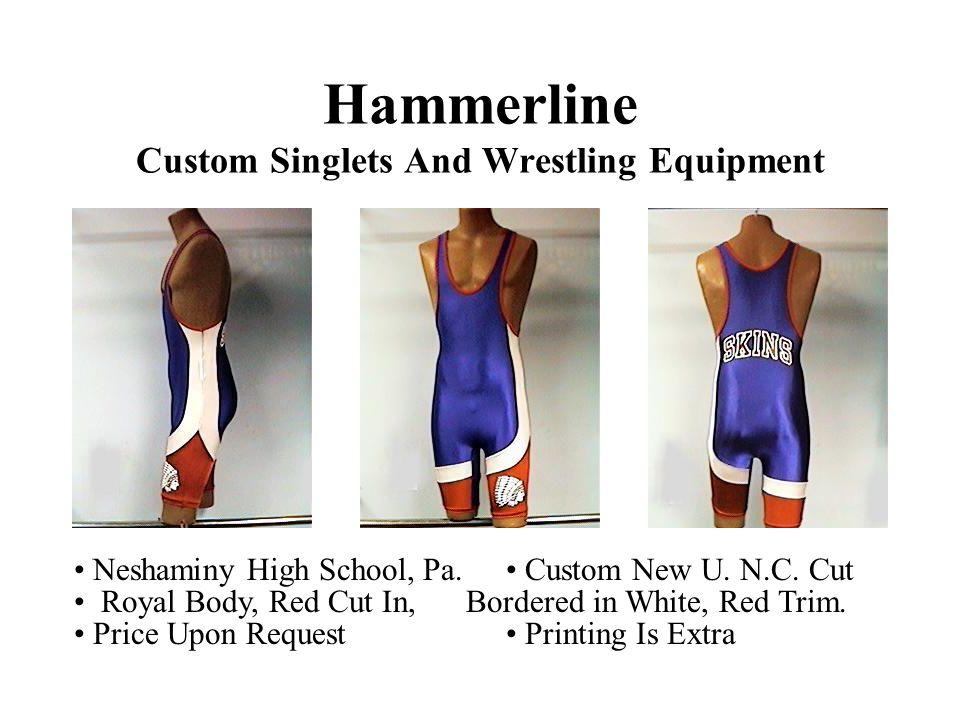 Hammerline Custom Singlets And Wrestling Equipment Neshaminy High School, Pa.