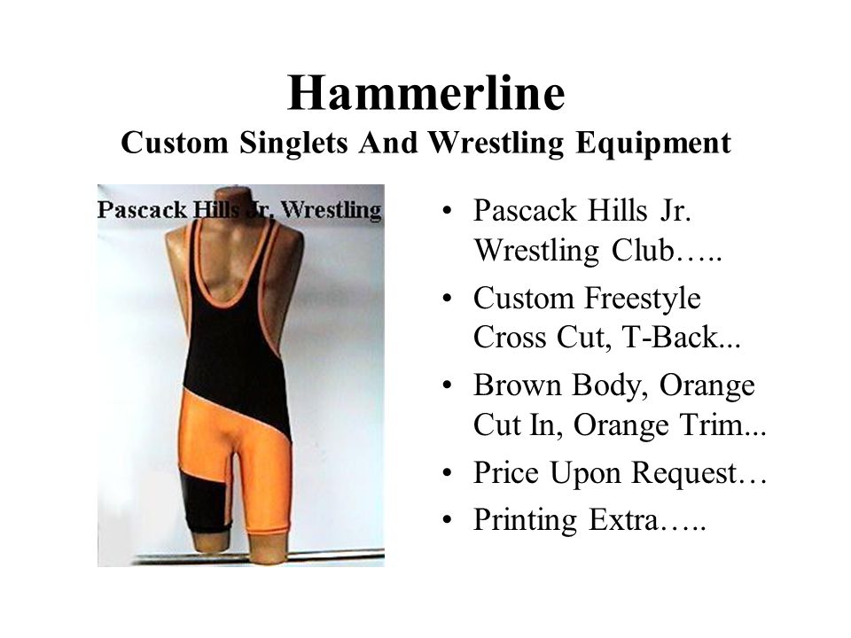 Hammerline Custom Singlets And Wrestling Equipment Pascack Hills Jr.
