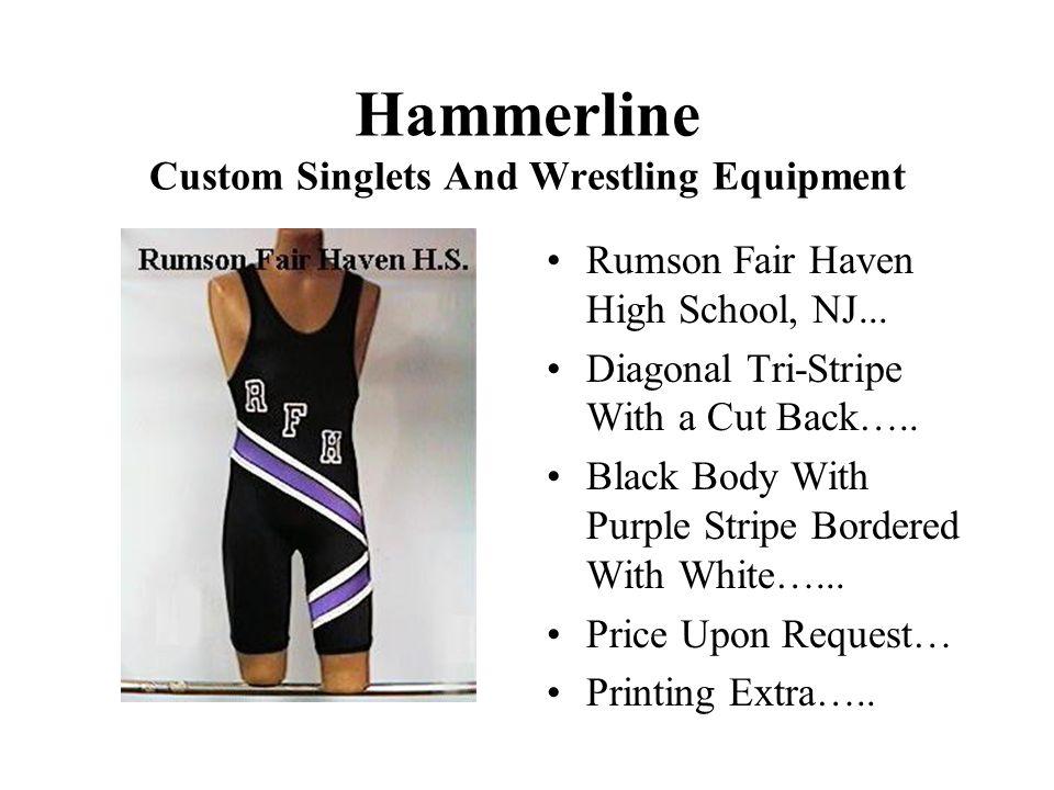 Hammerline Custom Singlets And Wrestling Equipment Rumson Fair Haven High School, NJ...