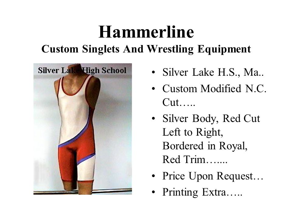 Hammerline Custom Singlets And Wrestling Equipment Silver Lake H.S., Ma..