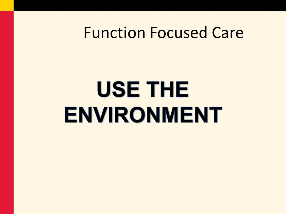 Function Focused Care