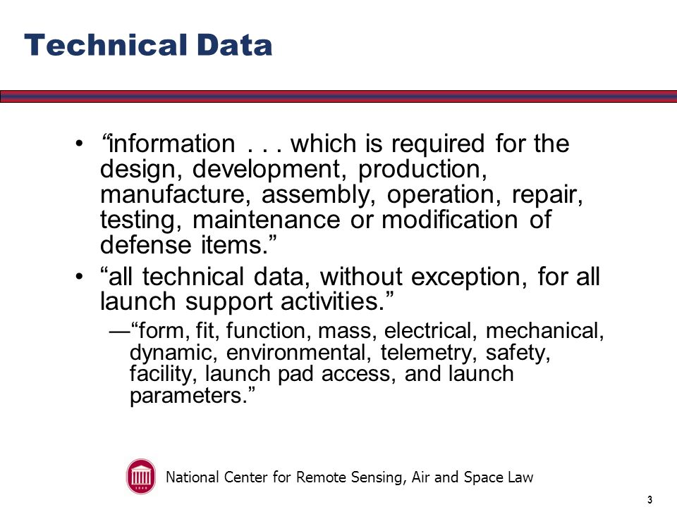 National Center for Remote Sensing, Air and Space Law 2 Deemed Export Rule An export can occur via visual inspection or oral description of an item If such a transfer is made to a foreign individual within the United States an export deemed to have occurred Any such export would require an export license