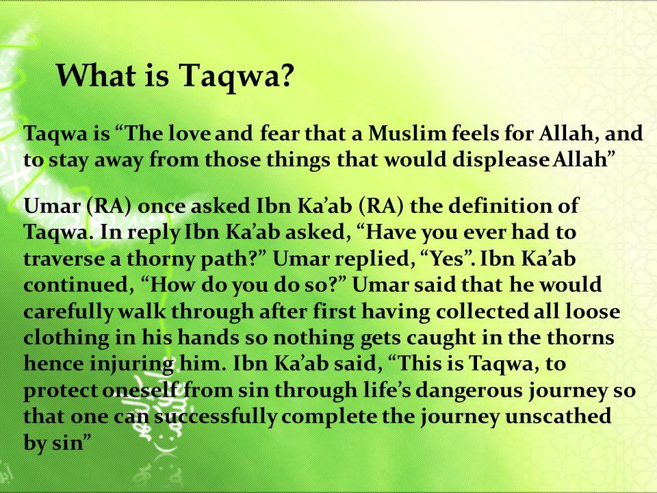 What is Taqwa.