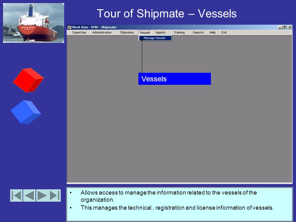 Tour of Shipmate – Shipmates Allows access to Core functionality of the shipmate application Manage Shipmate Information. Manage shipmate status Searc