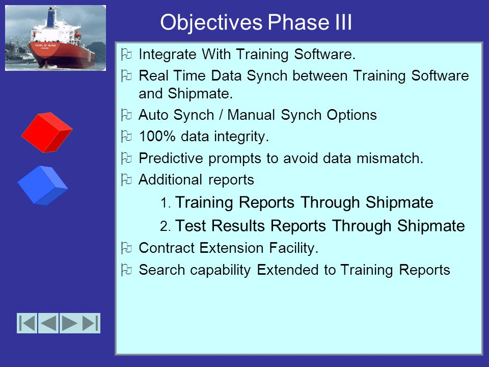 Objectives Phase II Dual version software –Office and Web versions.