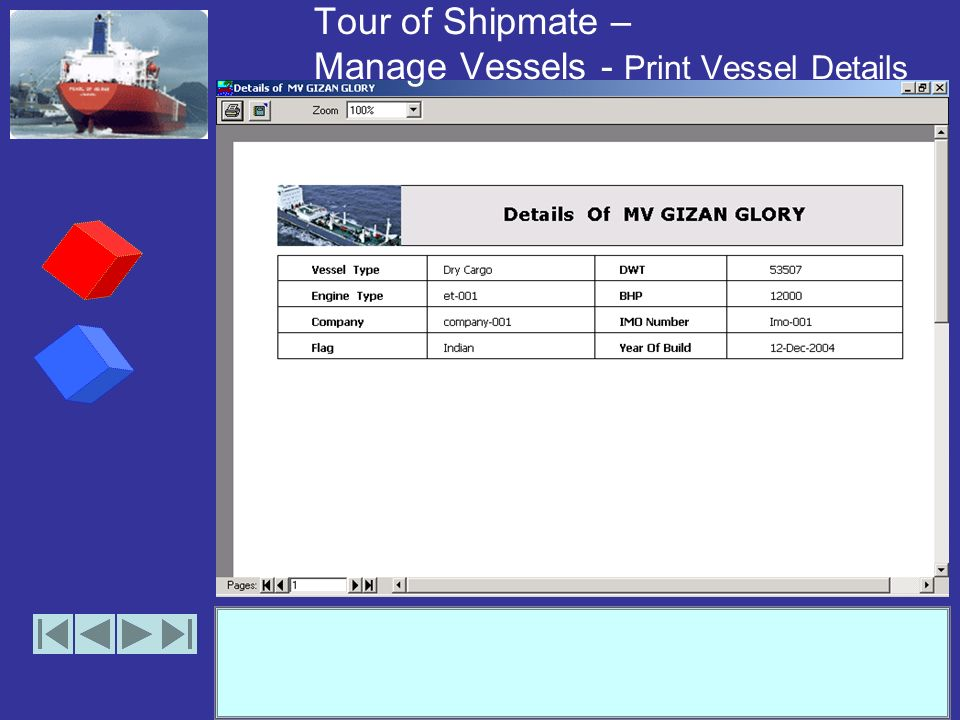 Tour of Shipmate – Manage Vessels - Remove Vessel