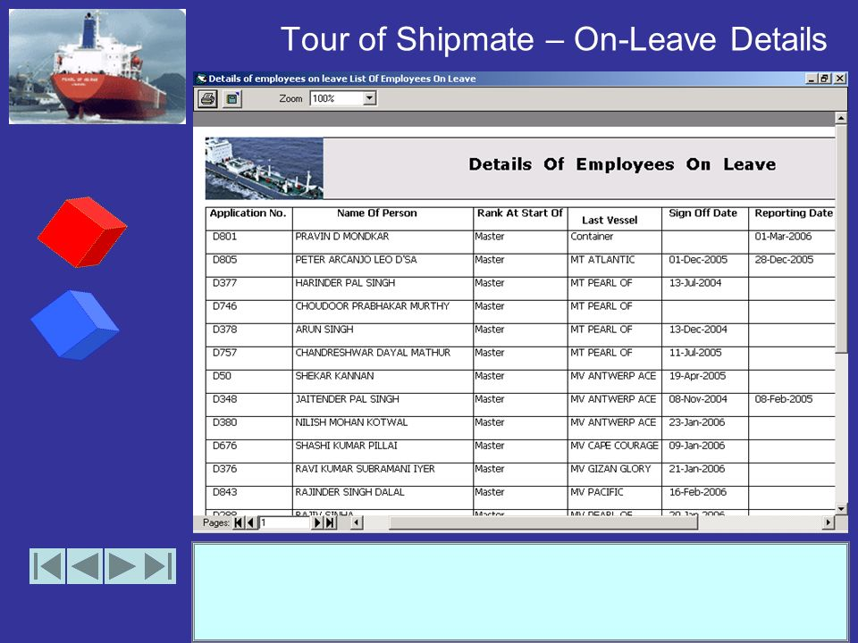 Tour of Shipmate – On-Board Summary (Crews)