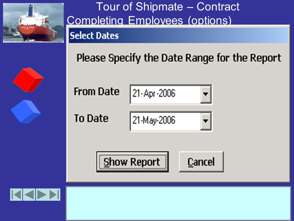 Tour of Shipmate – On-Leave Details