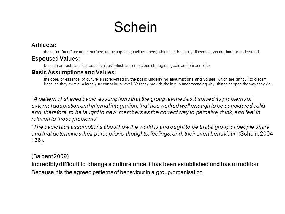 Schein Artifacts: these