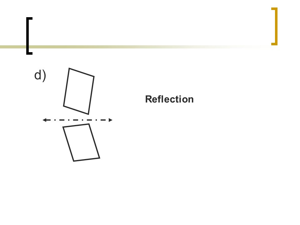 d) Reflection