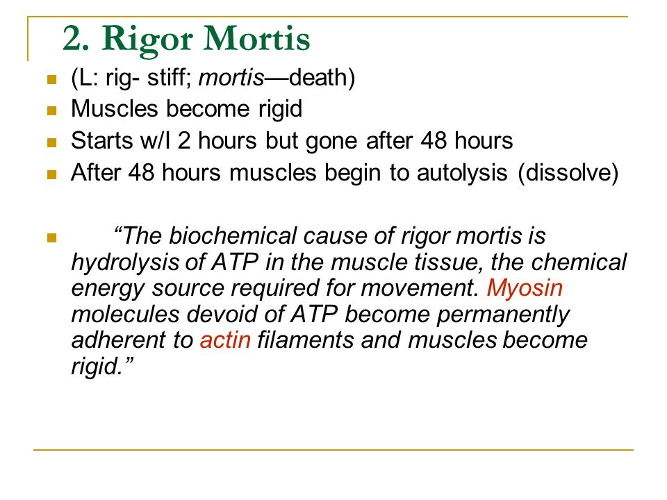 Questions: What are some Factors that would affect Algor Mortis? Ambient temperature Wind? Excess body fat? Clothing etc
