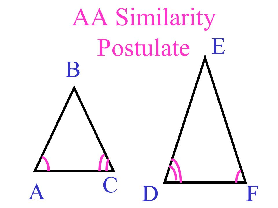 AA Similarity Postulate A B C D E F