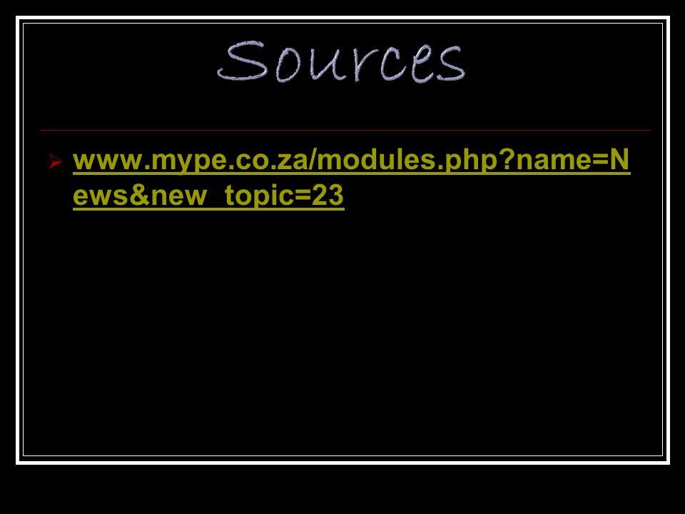www.mype.co.za/modules.php?name=N ews&new_topic=23 www.mype.co.za/modules.php?name=N ews&new_topic=23