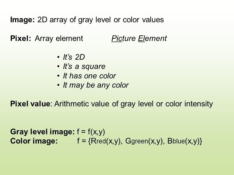 Image Types: 1.Gamma-ray imaging 2. X-ray imaging - rentogen 3.