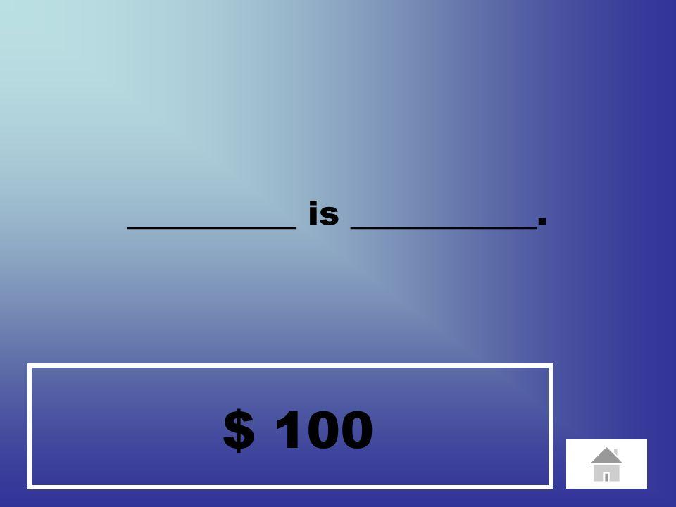 $ 20 ________ speaks _________.