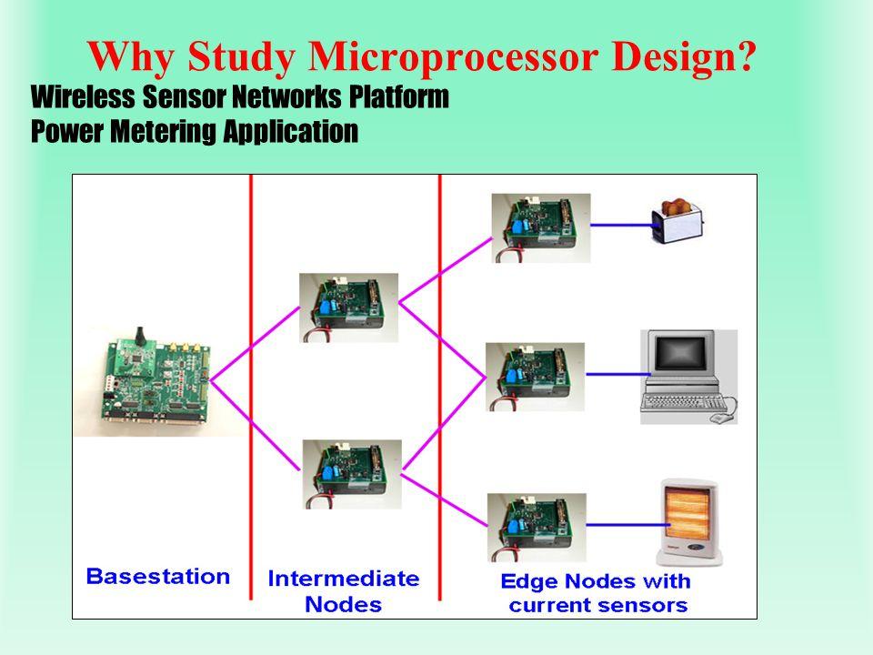 Why Study Microprocessor Design? Wireless Sensor Networks Platform Power Metering Application