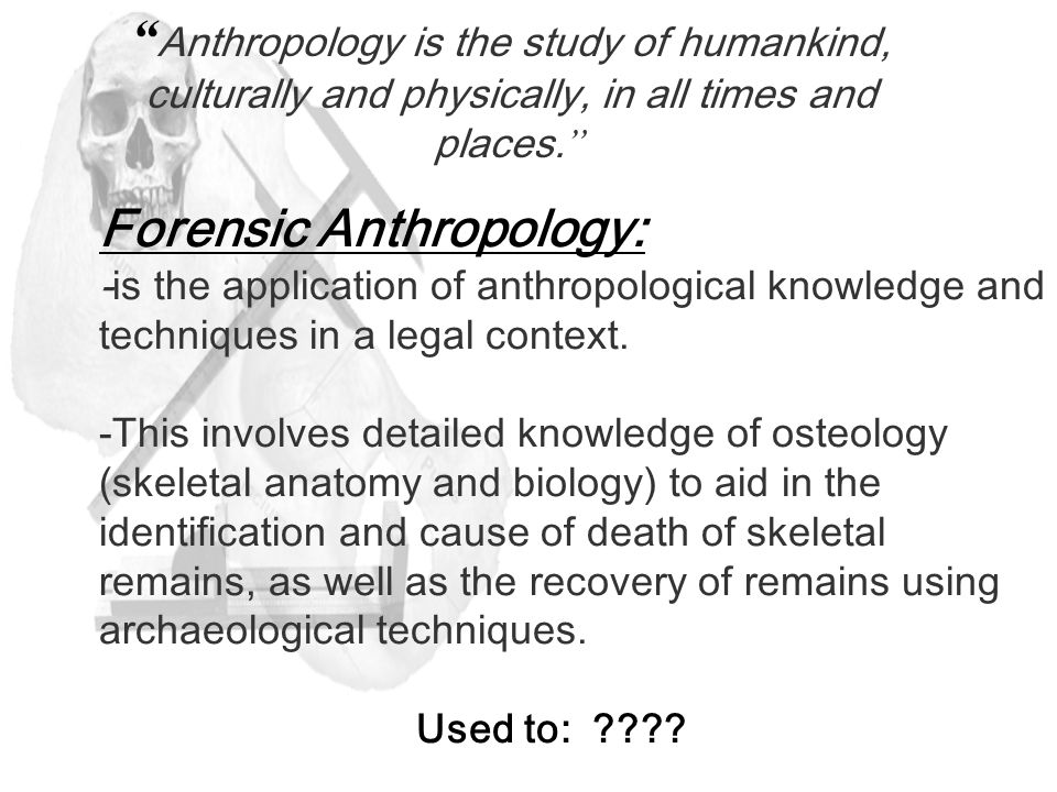 Forensic Anthropology Chapter 18