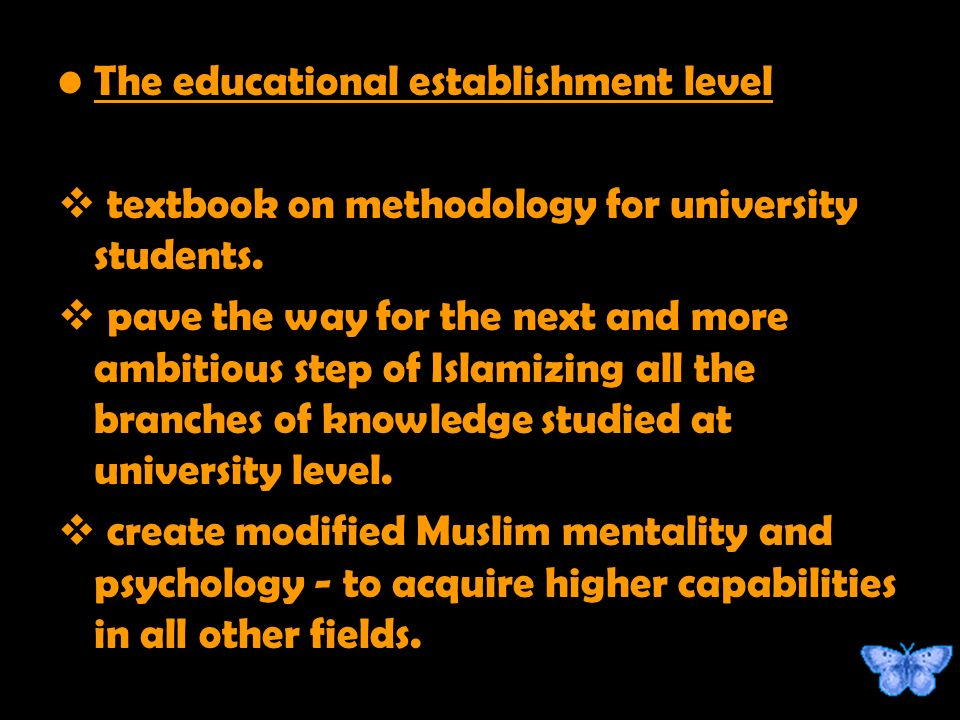 The educational establishment level textbook on methodology for university students.