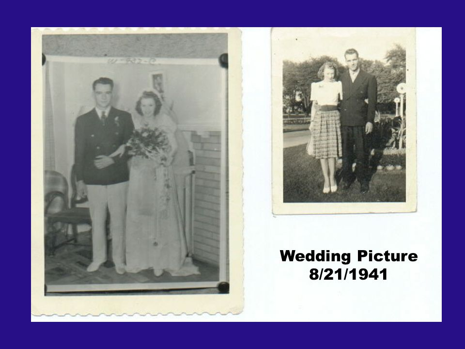 Wedding Picture 8/21/1941