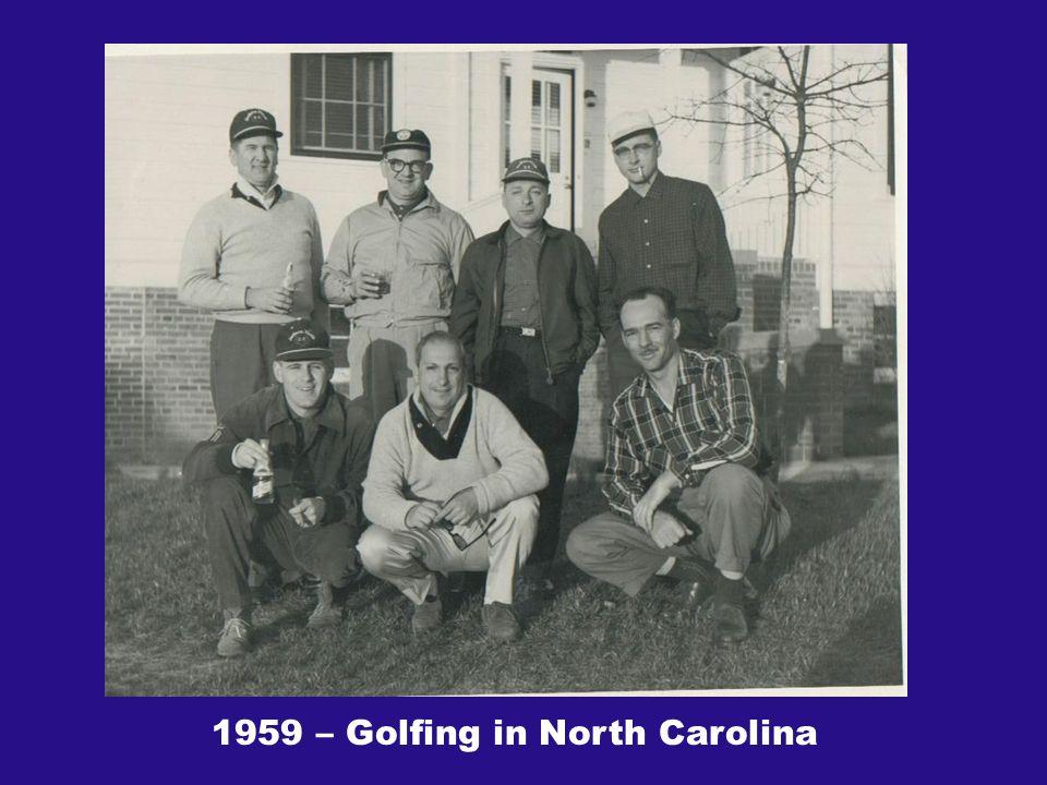 1959 – Golfing in North Carolina