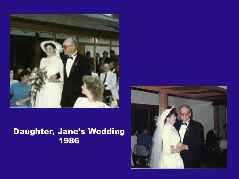 Daughter, Janes Wedding 1986