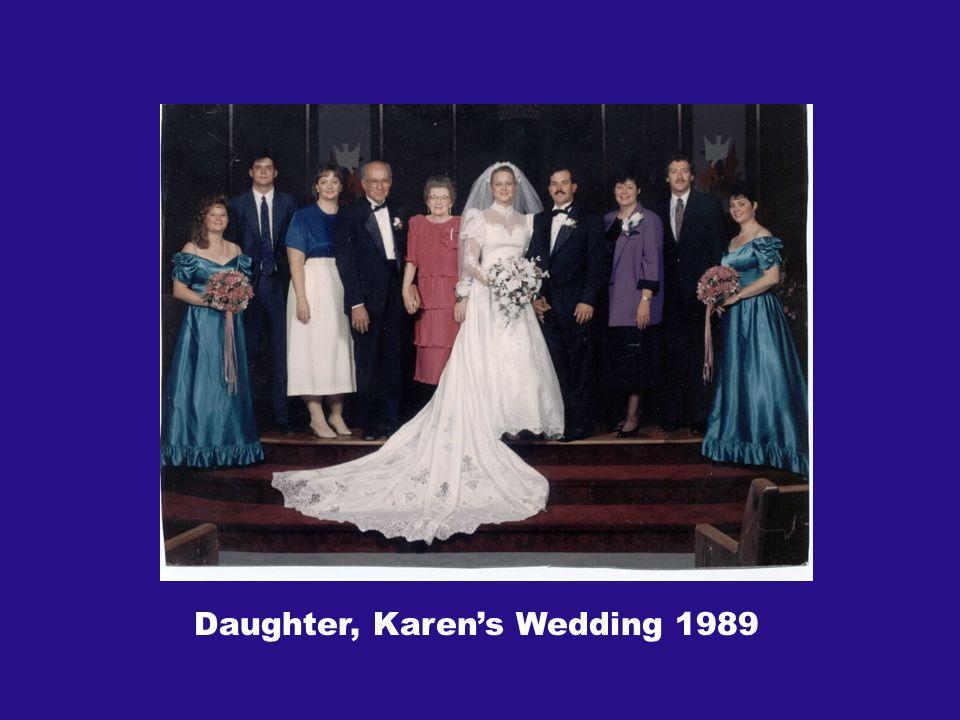 Daughter, Karens Wedding 1989
