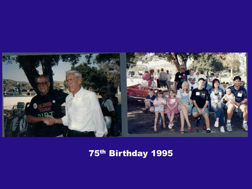 75 th Birthday 1995