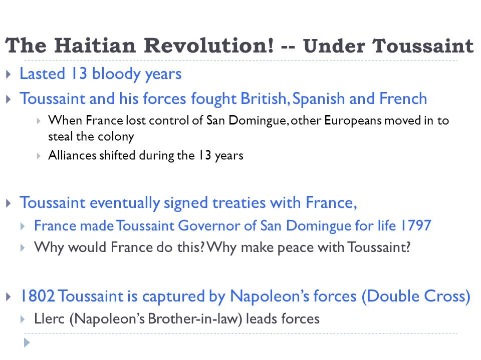 The Haitian Revolution.