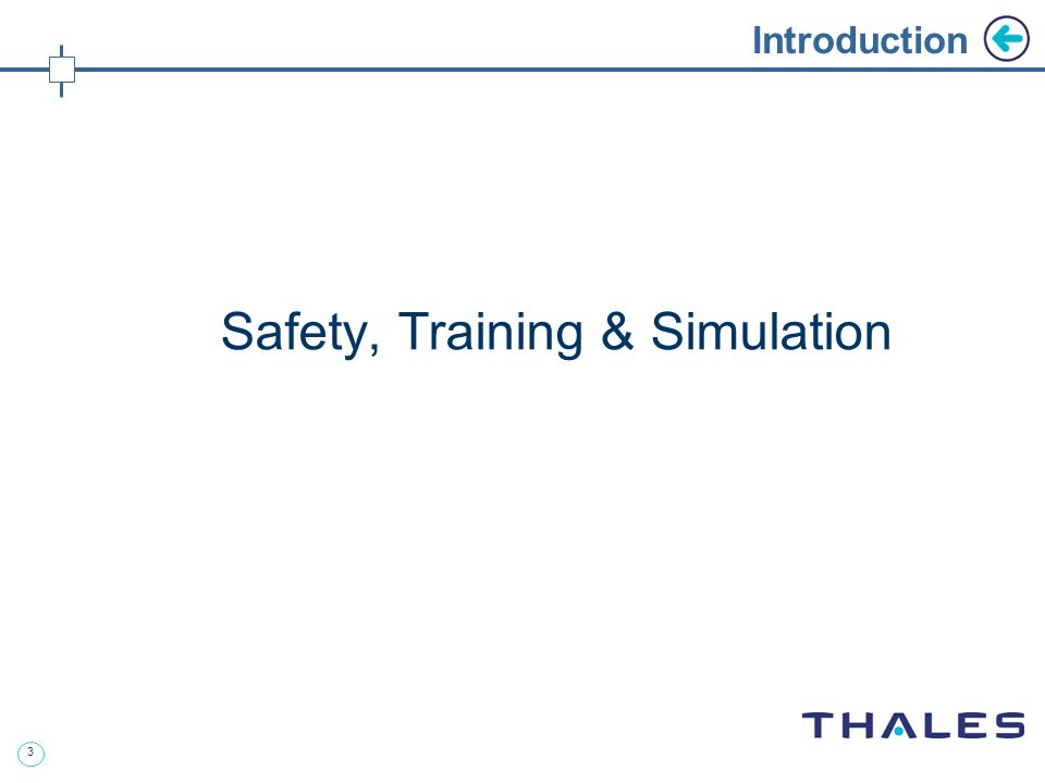 3 Introduction Safety, Training & Simulation