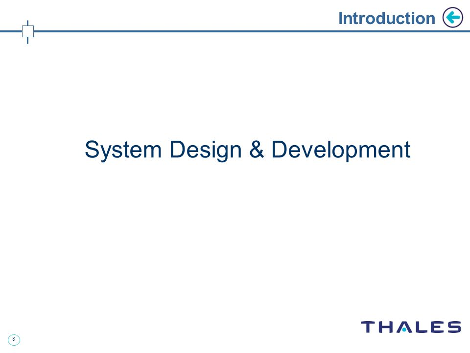 8 Introduction System Design & Development
