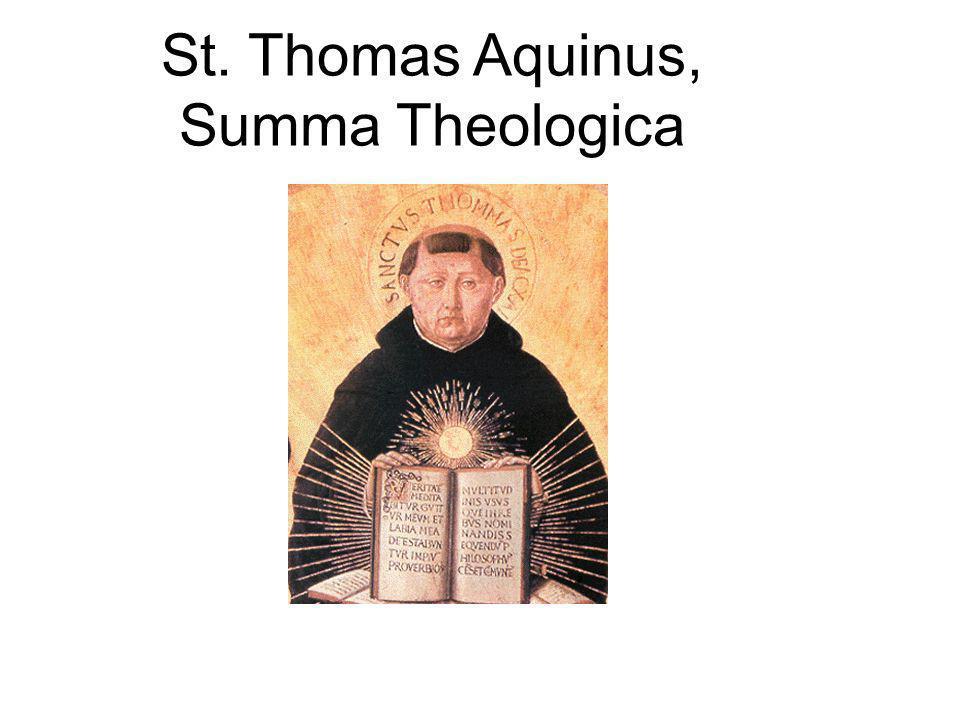 St. Thomas Aquinus, Summa Theologica