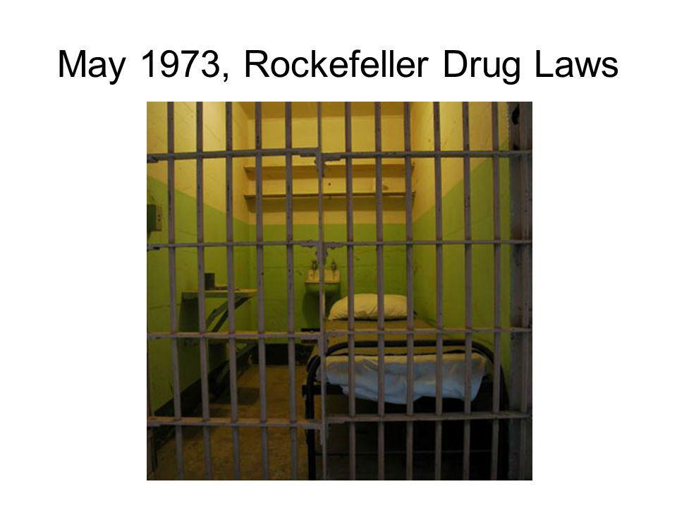 May 1973, Rockefeller Drug Laws