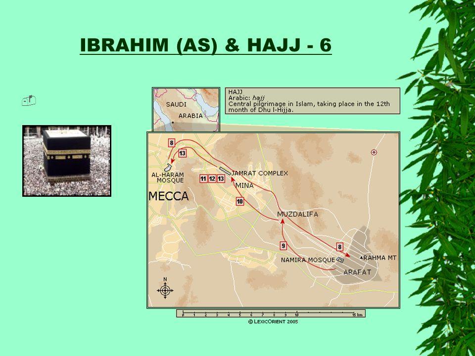 IBRAHIM (AS) & HAJJ - 6